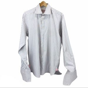 Thomas Pink French cuff striped dress shirt -16/36